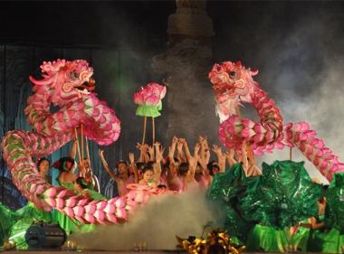 Lotus dragon show